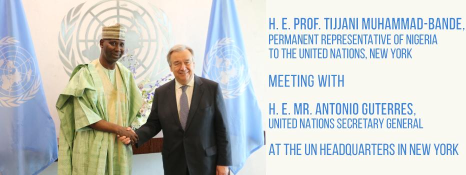 H.-E.-Ambassador-Tijjani-Muhammad-Bande-with-H.-E.-Antonio-Guterres